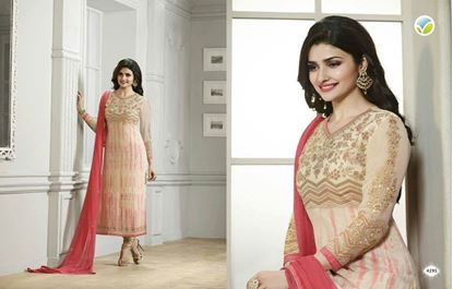 Picture of Vinay Fashion Dress Pink & Cream