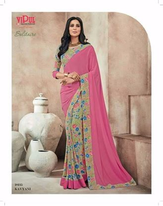 Picture of Original Indian saree Pink