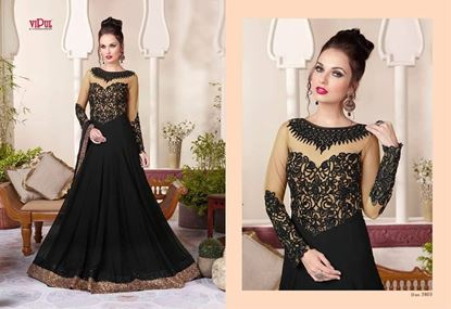 Picture of Vipul Zinnia Original Indian Gown Black