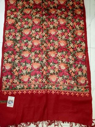 Picture of Original Kashmiri Shawls For Women-Red