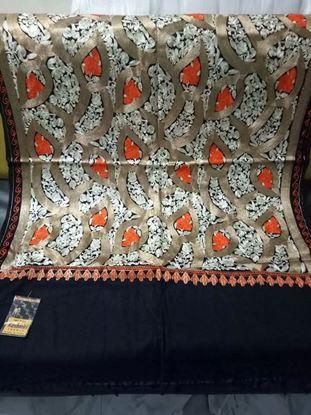Picture of Original Kashmiri Shawls For Women-Black & Golden