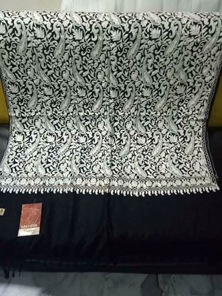 Picture of Original Kashmiri Shawls For Women-Black & White