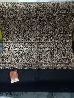 Picture of Original Kashmiri Shawls For Women-Black & Grey