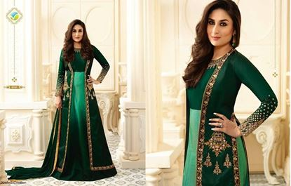 Picture of VINAY Original Indian Gown- Deep Green