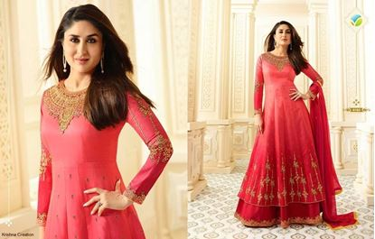 Picture of VINAY Original Indian Gown -Pink