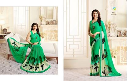 Picture of Original Indian Georgette-Green
