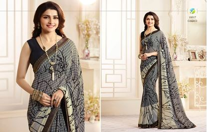 Picture of Original Indian Georgette Seree-Black