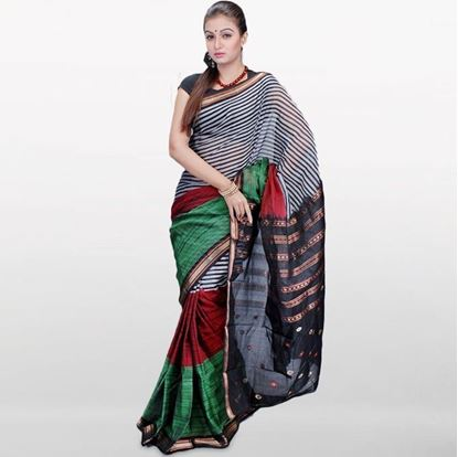 Picture of  Gray Musleen Cotton Saree For Women