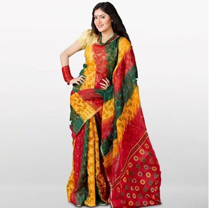 Picture of  Multi Color Musleen Jamdani Saree