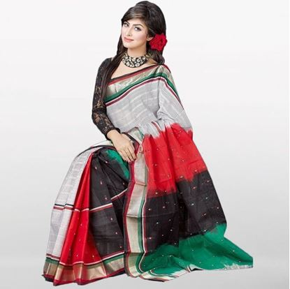 Picture of  Multi Color Musleen Cotton Saree
