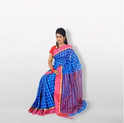 Picture of  Multicolor Musleen Jamdani Saree