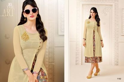 Picture of Zisa Original Indian Kurti-LIght Yellow