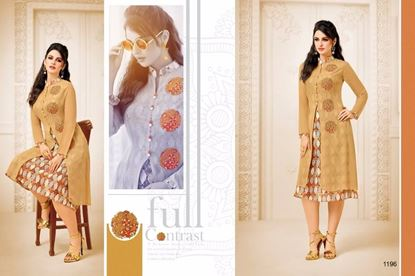 Picture of Zisa Original Indian Kurti-Brown