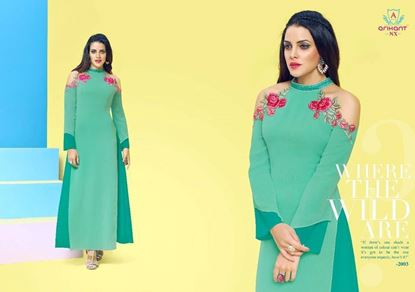 Picture of Arihant Original Indian Kurti-Jewel Turquoise