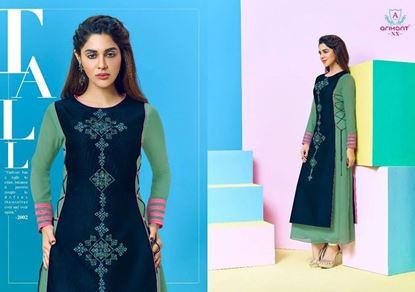 Picture of Arihant Original Indian Kurti-Blue & Jewel Turquoise