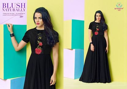 Picture of Arihant Original Indian Kurti-Black