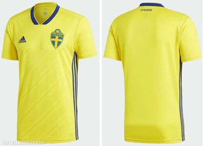 Picture of  Sweden Home World Cup Exclusive Jersey 2018