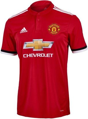 Picture of 2017-18 Manchester United Home Half Sleeve Jersey