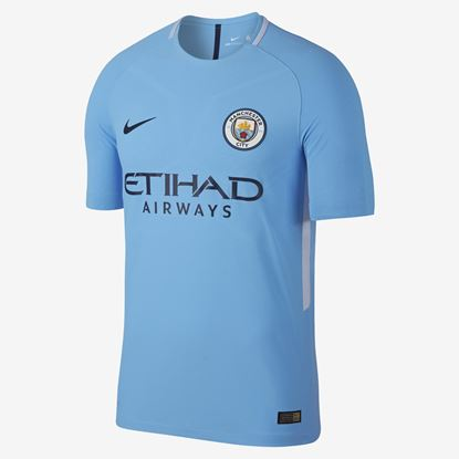 Picture of 2017-18 Manchester City Home Half Sleeve Jersey