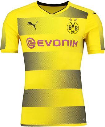 Picture of 2017-18 Borussia Dortmund Home Half Sleeve Jersey