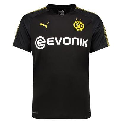 Picture of 2017-18 Borussia Dortmund Away Half Sleeve Jersey
