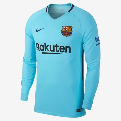 Picture of 2017/18 FC Barcelona Away Full Sleeve Jersey