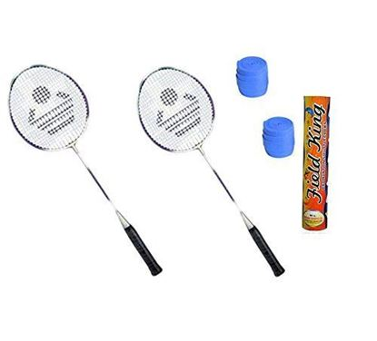 Picture of Cosco CB-885 Badminton Kit- (2 Racket, 2 Grip And Field King Shuttle Cock- Pack Of 10)