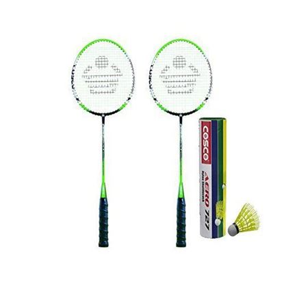 Picture of Cosco Cbx-555 N Badminton Racket Pair With Aero 727 Nylon Shuttle Cock