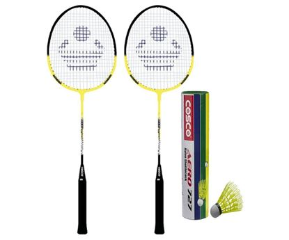 Picture of Cosco Cb-885 Badminton Racket Pair With Aero 727 Nylon Shuttle Cock