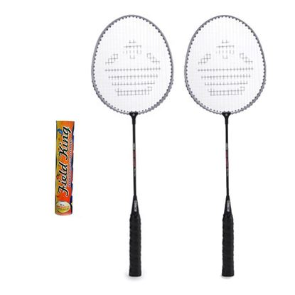 Picture of CB-150E Badminton Racket Pair With Field King Badminton Shuttle Cock ( Pack of 10 )- Badminton Kit