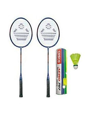 Picture of Cosco Cb-300 Badminton Racket Pair With Aero 787 Nylon Shuttle Cock