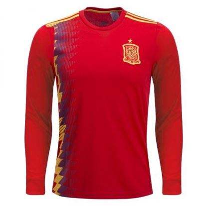 Picture of Spain Home World Cup Special Full Sleeve Jersey 2018