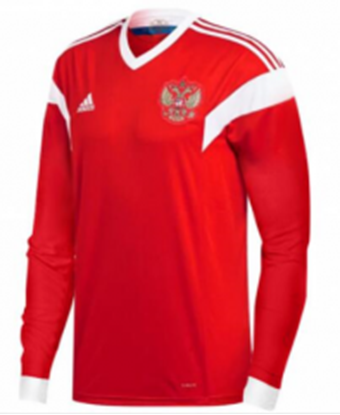 Picture of Russia Home World Cup Special Full Sleeve Jersey 2018