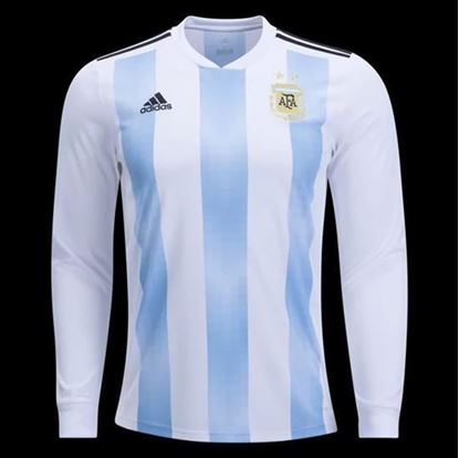 Picture of Argentina Home World Cup 2018 Exclusive Full Sleeve Jersey