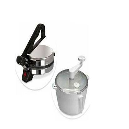 Picture of  Jaipan Rooti Maker with Ata Maker - Silver and White