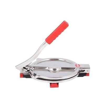 Picture of  Stainless Steel Manual Roti Maker or Puri Press - Silver