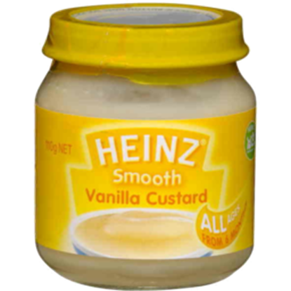 Picture of Heinz Smooth Vanilla Custard Baby Food 4+ Months - 110gm