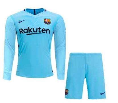 Picture of 2017-18 FC Barcelona Away Full Sleeve Jersey With Pant