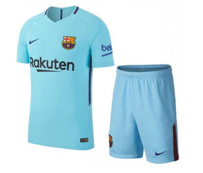 Picture of 2017-18 FC Barcelona Away Half Sleeve Jersey With Pant
