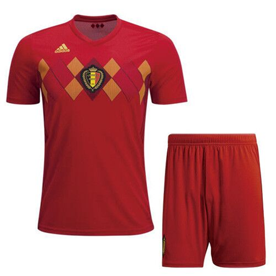 Picture of 2018 World Cup Belgium Home Jersey With Pant