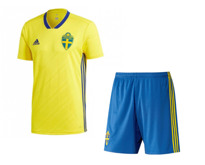 Picture of 2018 World Cup Sweden Home Jersey With Pant