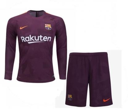 Picture of 2017-18 Barcelona Third Away Special Full Sleeve Special Jersey With Pant