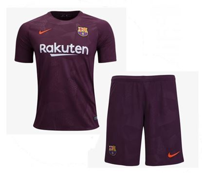 Picture of 2017-18 Barcelona Third Away Special Half Sleeve Special Jersey With Pant