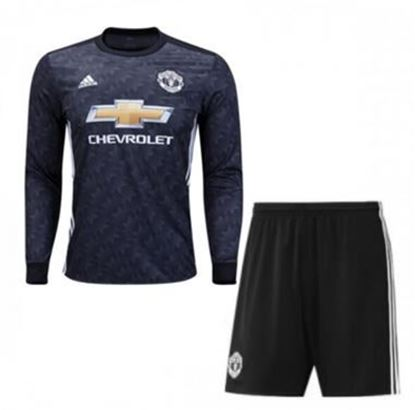 Picture of 2017-18 Manchester United Away Full Sleeve Jersey With Pant