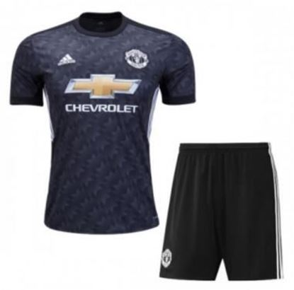 Picture of 2017-18 Manchester United Away Half Sleeve Jersey With Pant