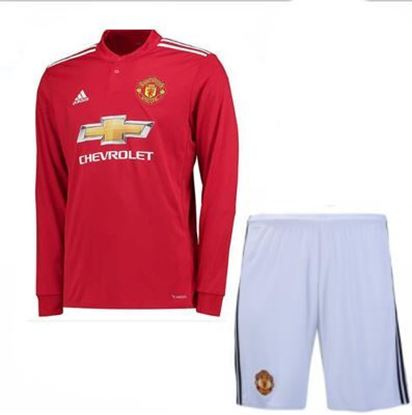 Picture of 2017-18 Manchester United Home Full Sleeve Jersey With Pant