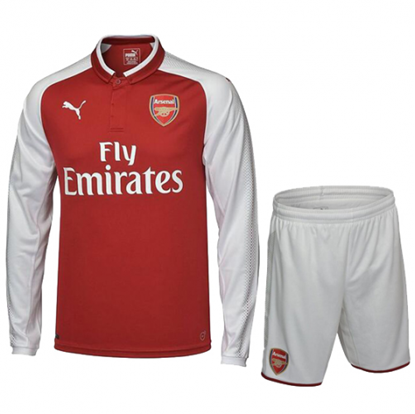 Picture of 2017-18 Arsenal Home Full Sleeve Jersey With Pant