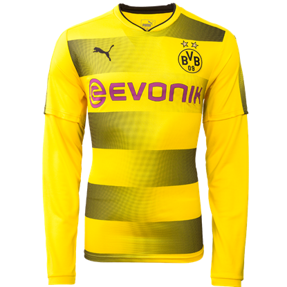 Picture of 2017-18 Borussia Dortmund Home Full Sleeve Jersey
