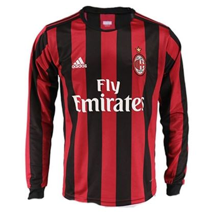 Picture of 2017-18 AC Milan Home Full Sleeve Jersey