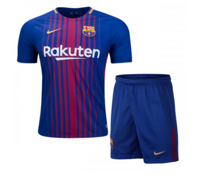 Picture of 2017-18 FC Barcelona Home Half Sleeve Jersey With Pant